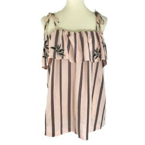 LOFT Orchid Stripe Off the Shoulder Top